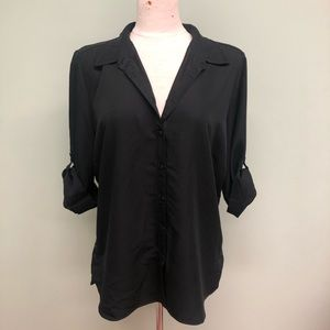 French Dressing Jeans   Button Up Blouse   Black